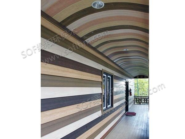 生态木外墙板拼装(生态木弧形天花)