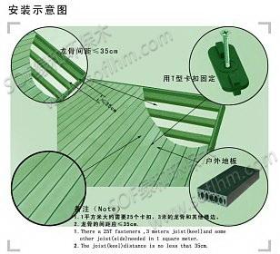生态木户外地板施工图