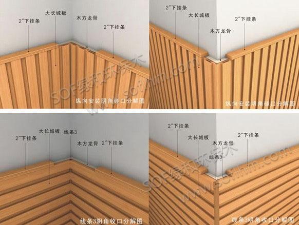 生态木长城板转解安装方法