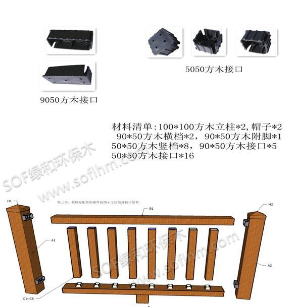 竹塑产品安装方法