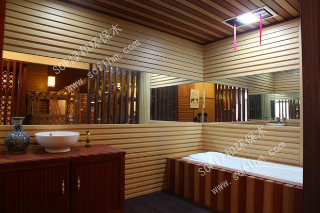被酒店大堂的那种中西结合的设计所吸引,酒店大堂吊顶用的是木质材料